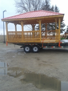 side view of gazebo