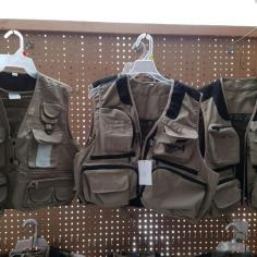 view of fishing vests