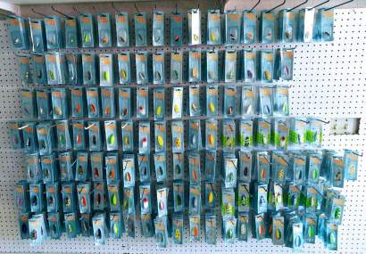 view of lures
